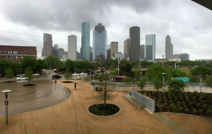 One more panorama from Buffalo Bayou Park.