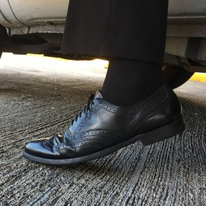 My first wear in the vintage Florsheim Imperials before getting shined by Jesse's Shoe & Boot Repair on FM 1960.